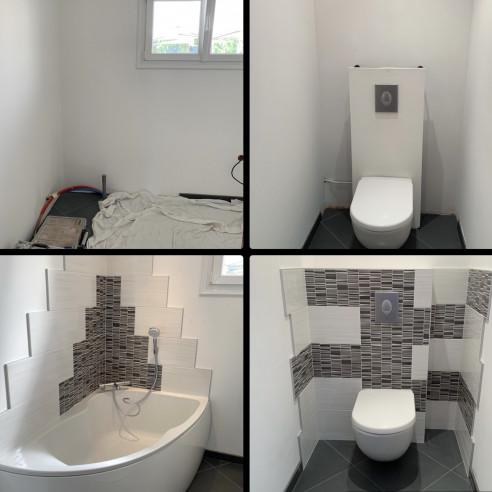 Création salle de bain à Saulxures