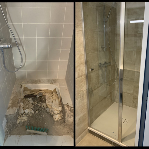 Rénovation salle de bain à pulnoy