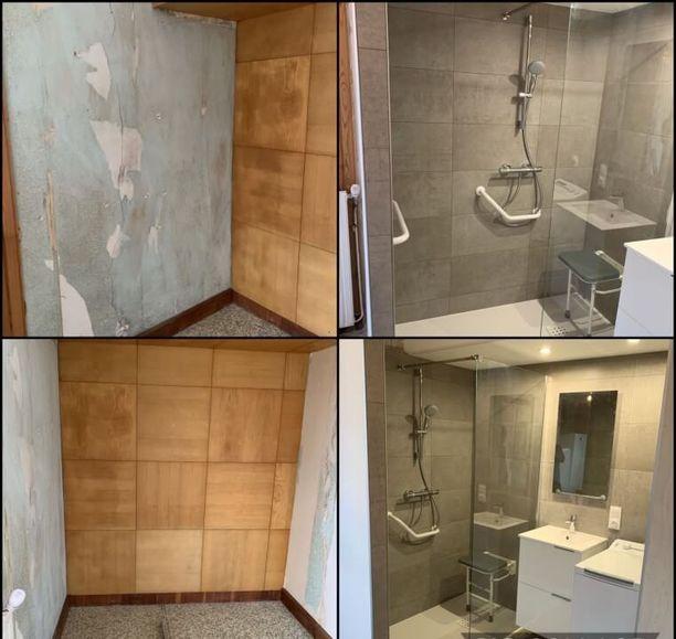 création espace douche à Bouxières-aux-Chênes