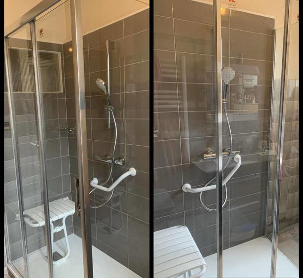 rénovation espace douche salle de bain PMR à Jarville-la-Malgrange