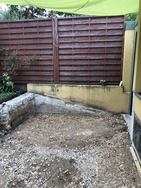 construction terrasse béton sur Sartrouville